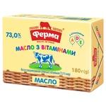 Масло Ферма сладкосливочное с витаминами A, D, E 73% 180г