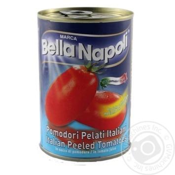 Томати Bella Napoli очищенные в томатном соке 400г - купить, цены на Novus - фото 1