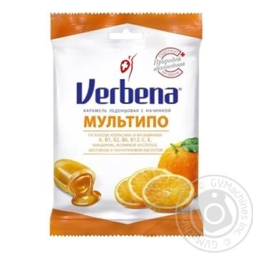Карамель Verbena Мультипо с апельсиновой начинкой и витаминами 60г - купить, цены на Восторг - фото 1