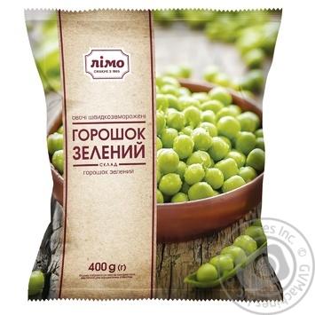 Горошек зеленый Лимо замороженный 400г - купить, цены на Ашан - фото 1