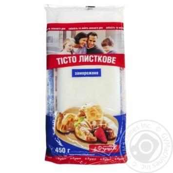 Тесто Фуршет слоеное пресное замороженное 450г