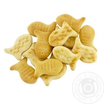 Крекер Бисквит-Шоколад Funny Fishes - купить, цены на Фуршет - фото 1