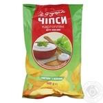 Чипсы картофельные Сметана/зелень Фуршет 140г