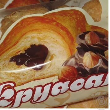 Круасан Лігос з Шоколадною глазур'ю та горіхами 90г