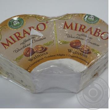 Сыр Кезерай Шампиньон Хофмастер Мирабо с белой плесенью и грецким орехом 68% Германия