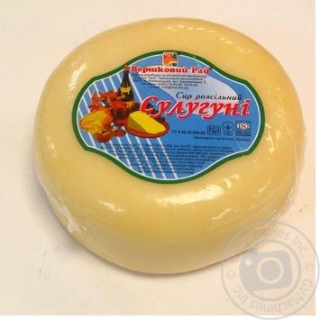 Сыр сулугуни Вэршковый рай из коровьего молока рассольный 45% Украина