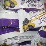 Конфета Бисквит-шоколад Свит тревел с изюмом Украина