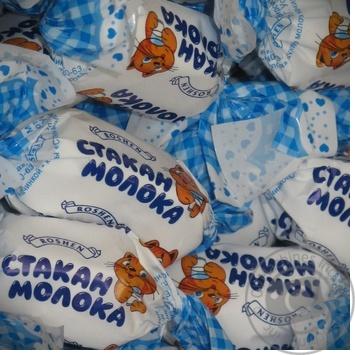 Конфета Рошен Стакан молока Украина