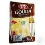 Cheese Mlekovita Gouda smoked 45% sliced 150g