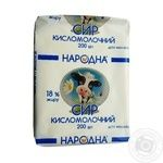 Cottage cheese Narodna sour milk 18% 200g - buy, prices for Furshet - image 1