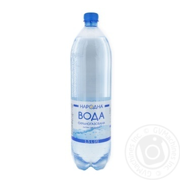 Вода питьевая сильно газированная Народная 1.5л - купить, цены на Фуршет - фото 1