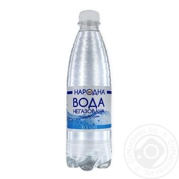 Вода питьевая негазированная Народная 0.5л - купить, цены на Фуршет - фото 1