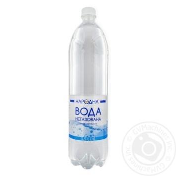 Вода питьевая негазированная Народная 1.5л - купить, цены на Фуршет - фото 1