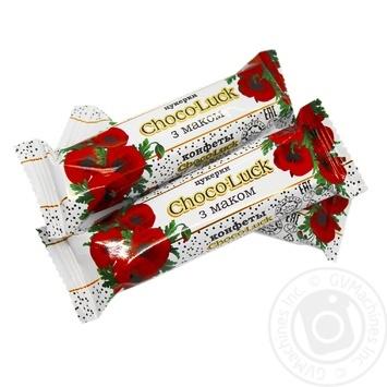 Конфеты Бисквит-Шоколад Choco-luck с маком - купить, цены на Фуршет - фото 1