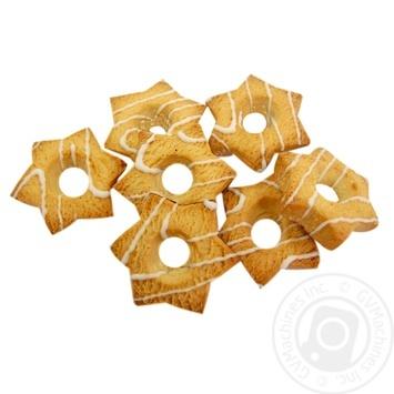 Печенье Фуршет Звездочка сдобное декор весовое - купить, цены на Фуршет - фото 1