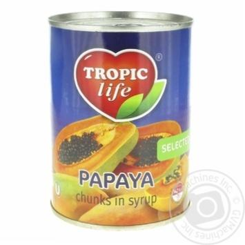 Папайя Tropic Life в сиропе 580г - купить, цены на Фуршет - фото 1