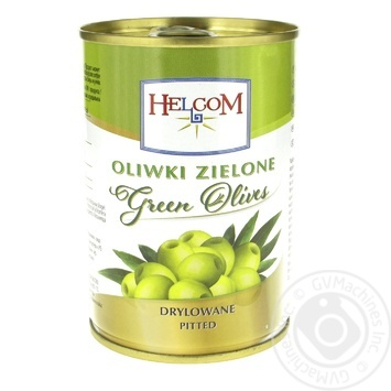 Оливки Helcom зеленые без косточки 300мл - купить, цены на Фуршет - фото 1