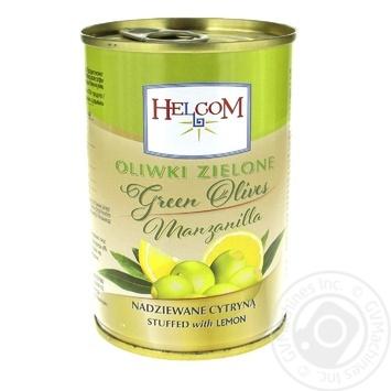 Оливки Helcom зелені фаршировані лимоном 280г - купити, ціни на Фуршет - фото 1