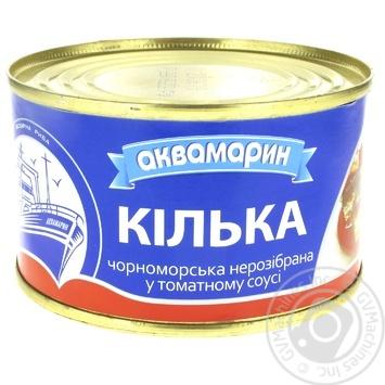 Килька Аквамарин в томатном соусе 230г - купить, цены на Фуршет - фото 1