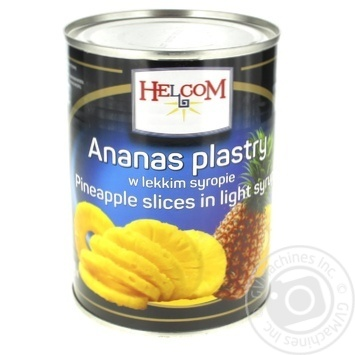 Helcom Pineapple rings in syrup 580g - buy, prices for Furshet - image 1