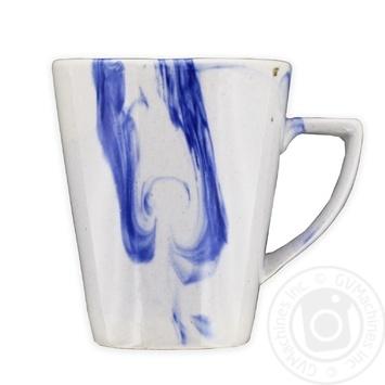 Чашка Marizel радуга кобальт CAP676 350мл - купить, цены на Фуршет - фото 1