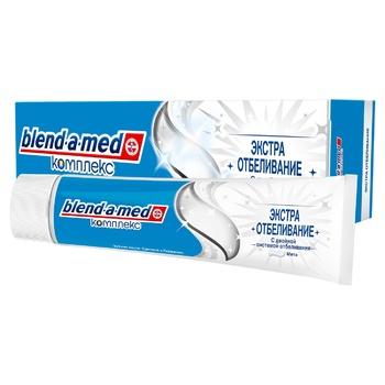 Зубная паста Blend-a-med Комплекс Экстра Отбеливание 100мл - купить, цены на МегаМаркет - фото 1
