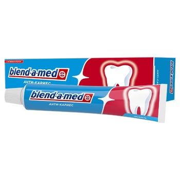Зубная паста Blend-a-med Анти-кариес Свежесть Original 50мл - купить, цены на Ашан - фото 1