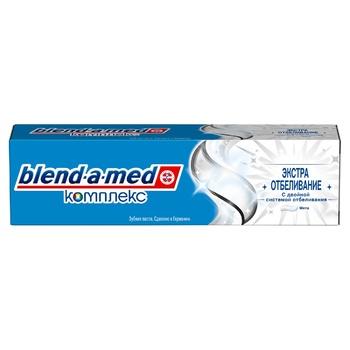 Зубная паста Blend-a-med Комплекс Экстра Отбеливание 100мл - купить, цены на МегаМаркет - фото 2