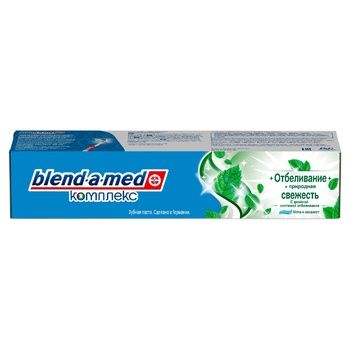 Blend-a-med Complex Whitening + Natural Freshness Toothpaste 100ml - buy, prices for Auchan - photo 3