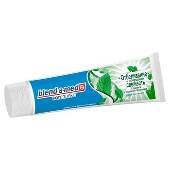 Blend-a-med Complex Whitening + Natural Freshness Toothpaste 100ml - buy, prices for Auchan - photo 2