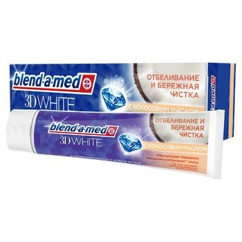 Blend-a-med 3D White Gentle Cleaning Toothpaste 100ml - buy, prices for Auchan - photo 1