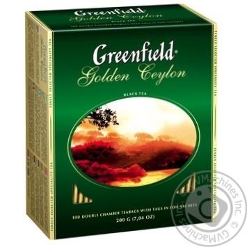 Чай Гринфилд Голден Цейлон черный 2г х 100шт