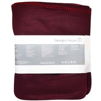 Tarrington House Fleece Blanket Burgundy 200X220cm