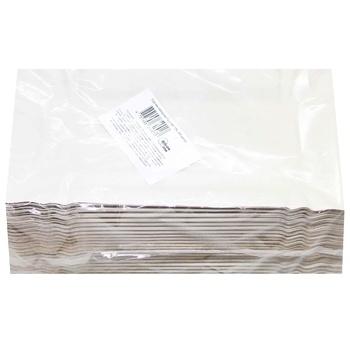 Paper rectangular white plate 140*250mm, 100pcs