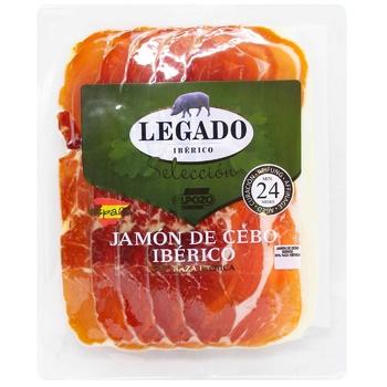 Хамон Elpozo Legado Iberico Cebo сыровяленый из свинины нарезанный слайсами 60г