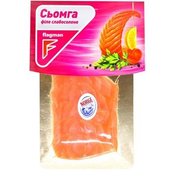 Flagman Salmon Fillet Lightly Salted Slices without Skin 100g