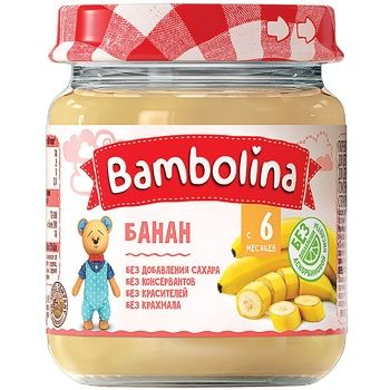 Puree Banana Bambolina 100g - buy, prices for Furshet - image 1