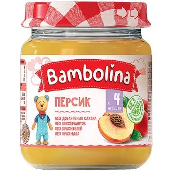 Пюре Bambolina Персик 100г - купити, ціни на CітіМаркет - фото 1