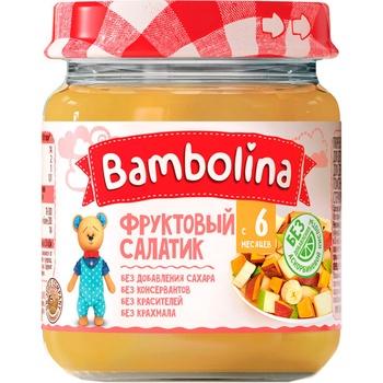 Пюре Bambolina фруктовий салат банан груша персик 100г - купити, ціни на Фуршет - фото 1