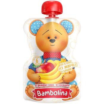 Bambolina Banana-Apple Puree 90g - buy, prices for CityMarket - photo 1