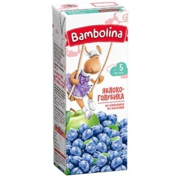 Нектар Bambolina Яблоко-голубика 200мл - купить, цены на СитиМаркет - фото 1