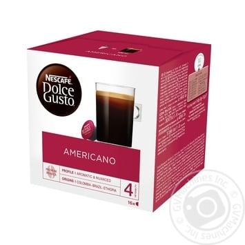 Кава Nescafe Dolce Gusto Americano в капсулах 16шт 10г - купити, ціни на МегаМаркет - фото 1