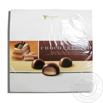 Цукерки шаровані з фундуком та мигдалем в молочному шоколаді Choco Cremino Vergani 220 г