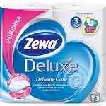 Zewa Deluxe Delicate Care 3-ply white toilet paper 4pcs