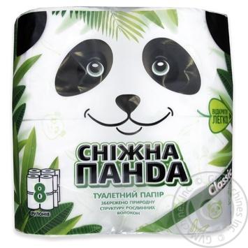 Бумага туалетная Снежная панда 4шт
