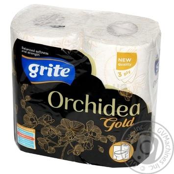 Папір туалетний Grite Orchidea Gold 4шт