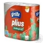 Папір туалетний Grite Plius трьохшаровий 4шт