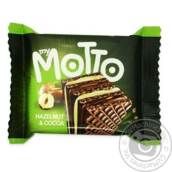 Вафли Mymotto орех и какао 34г