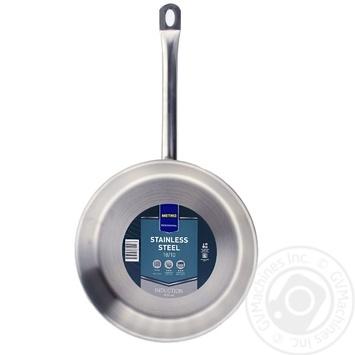 Сковорода METRO Professional індукційна з нержавіючої сталі 28см - купити, ціни на Метро - фото 1