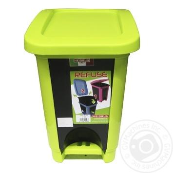 Відро для сміття Heidrun з кришкою і педаллю 2л в асортименті - купити, ціни на МегаМаркет - фото 1